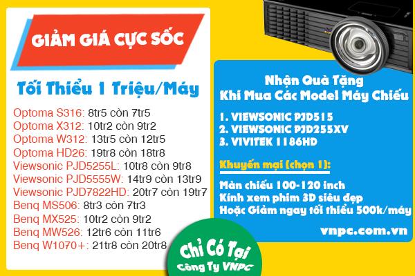 Khuyến mại, giảm giá cực sốc khi mua máy chiếu tại VNPC
