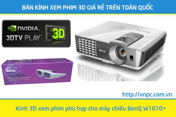Kính 3D xem phim phù hợp cho máy chiếu BenQ W1070+