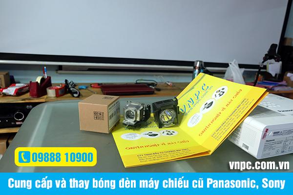 Cung cấp và thay bóng đèn máy chiếu cũ Panasonic, Sony