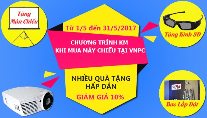 Chương trình khuyến mãi máy chiếu tháng 5/2017 chào hè