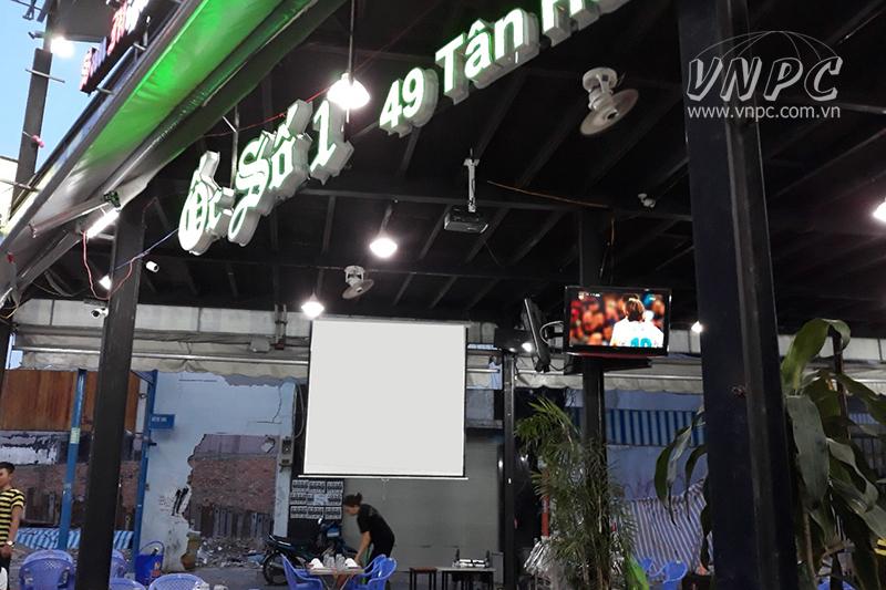 Lắp bộ máy chiếu Optoma PS368 cho quán nhậu Q.Tân Phú