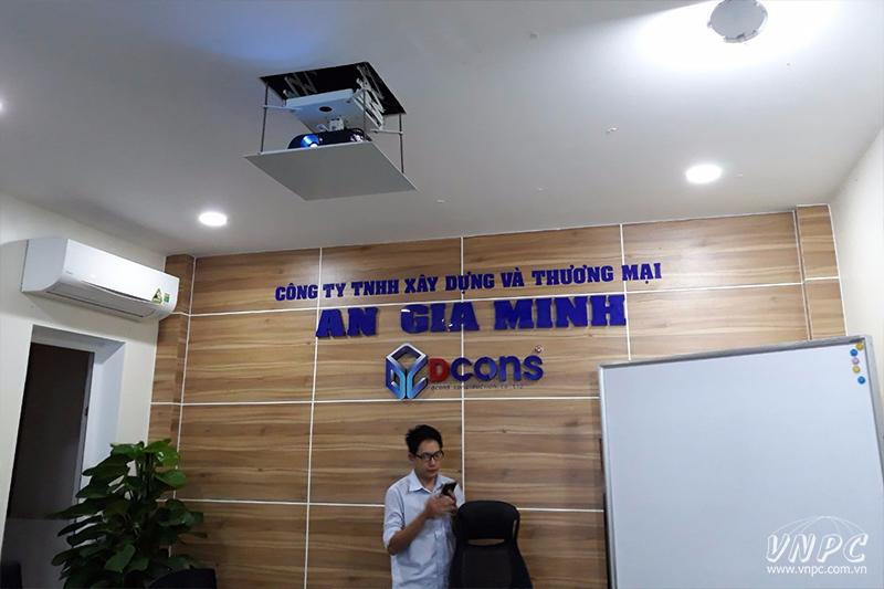 Lắp máy chiếu Viewsonic PJD515HD & Khung treo điện tử 1m