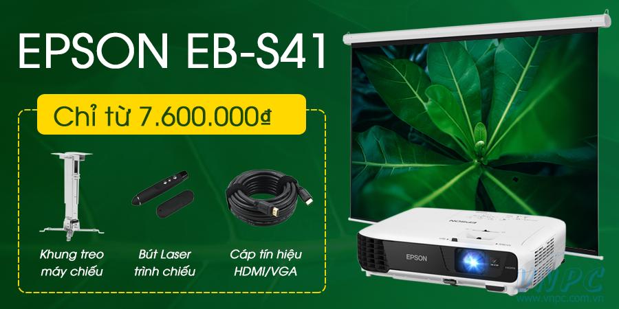 Khuyến mại giảm giá máy chiếu Epson EB-S41 cực sốc tại VNPC