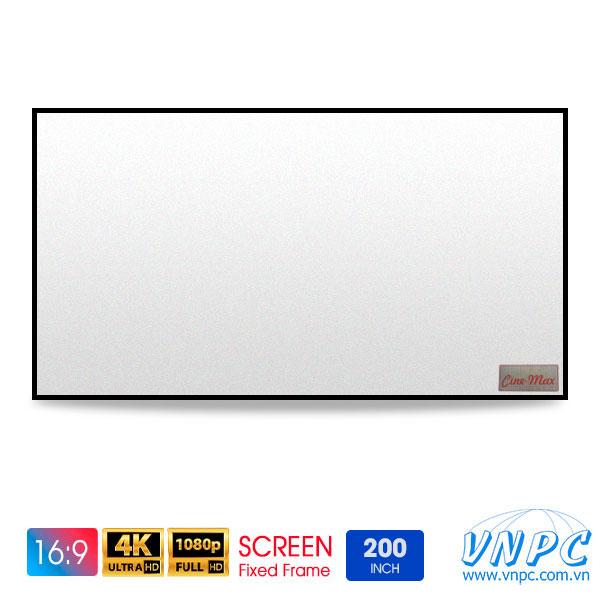 Màn chiếu khung cố định 200 inch xem phim tỉ lệ 16:9