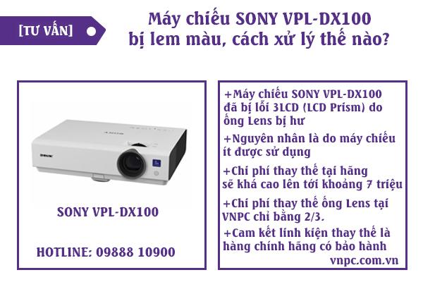máy chiếu sony vpl-dx100 bị lem màu