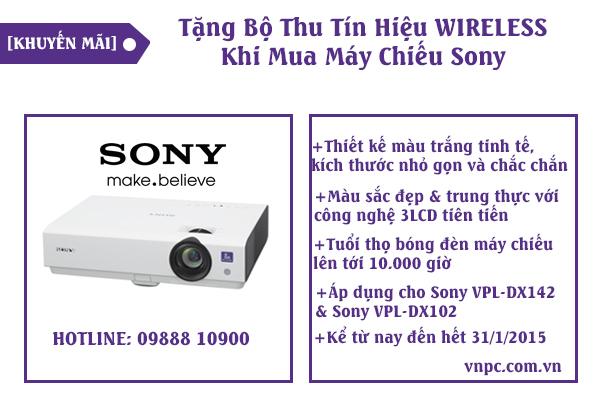 Tặng Bộ Thu Tín Hiệu WIRELESS Khi Mua Máy Chiếu Sony