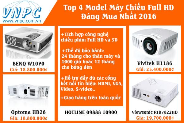 Top 4 model máy chiếu Full HD đáng mua nhất 2016