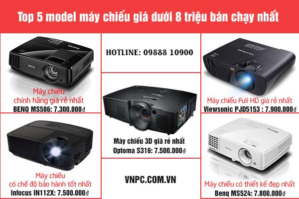 Top 5 model máy chiếu giá dưới 8 triệu bán chạy nhất