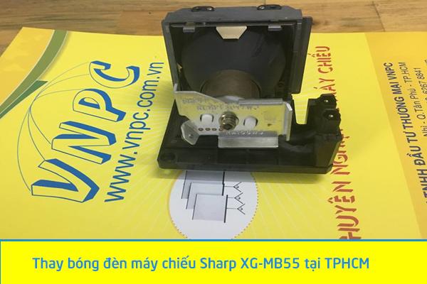 thay bóng đèn máy chiếu Sharp XG-MB55