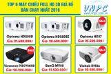Top 6 máy chiếu Full HD 3D giá rẻ bán chạy nhất 2016