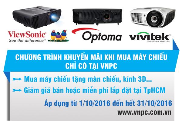 Chương trình khuyến mãi khi mua máy chiếu tháng 10/2016