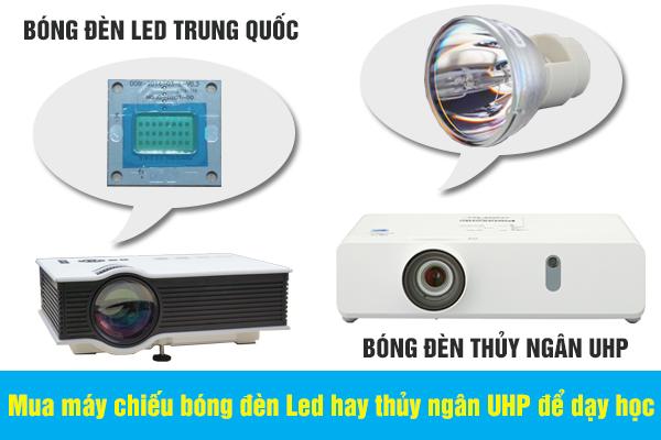 Mua máy chiếu bóng đèn Led hay thủy ngân UHP để dạy học