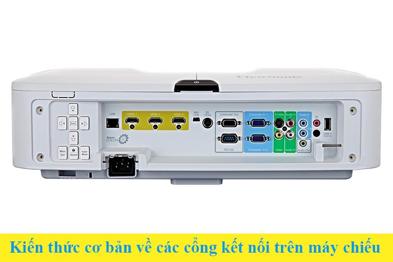 Kiến thức cơ bản về các cổng kết nối trên máy chiếu