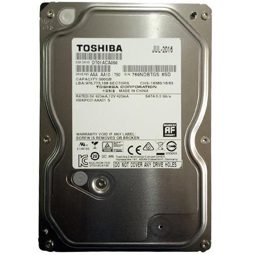 Ổ cứng HDD TOSHIBA 500GB giá tốt cho lưu trữ phim HD 3D