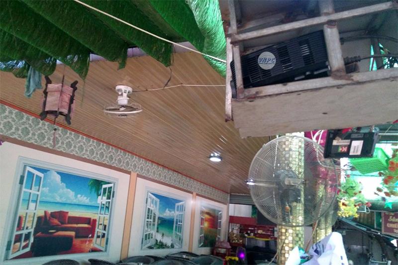 Máy chiếu Optoma PX390 quán cà phê tại Thuận An, Bình Dương