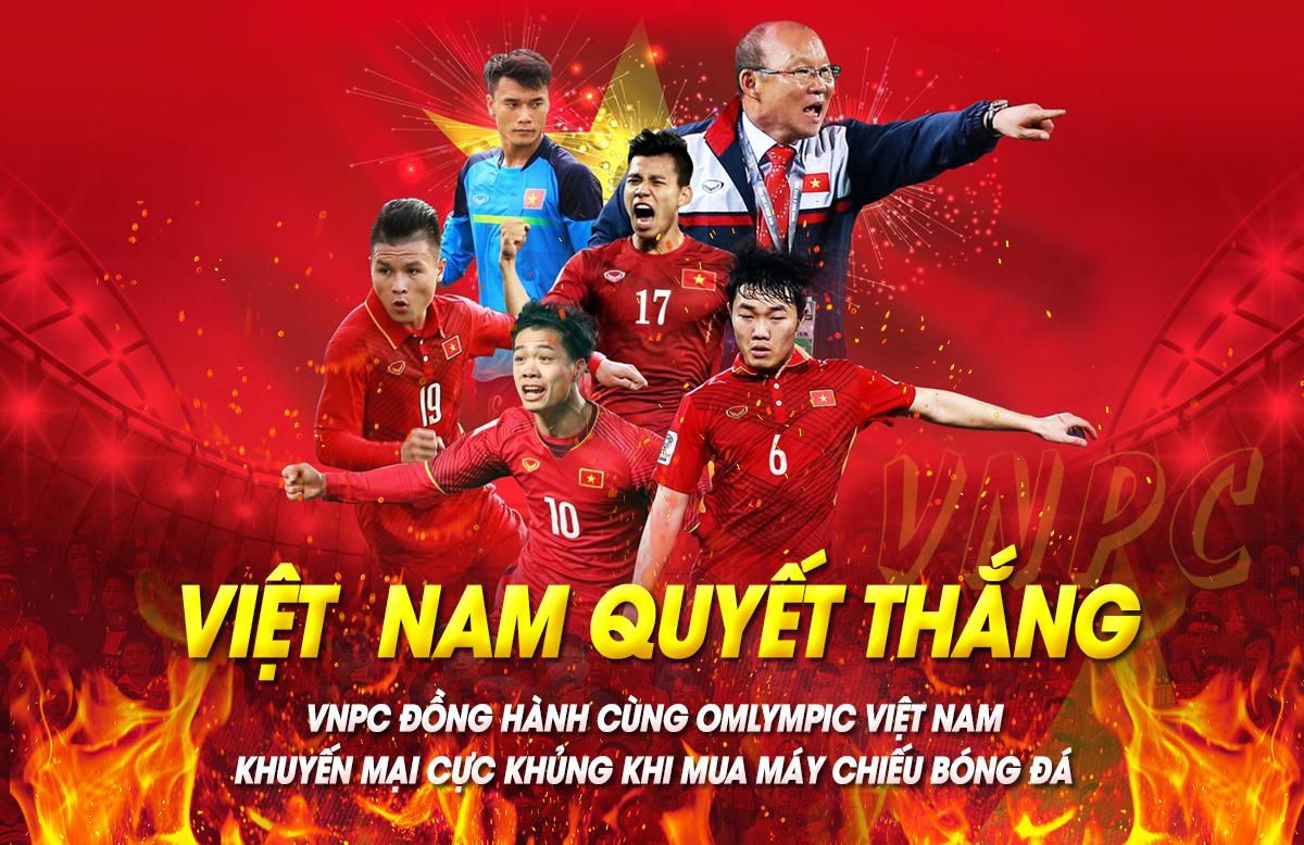 Khuyến Mãi Máy Chiếu Giấc Mơ Vàng Tuyển Việt Nam ASIAD 2018