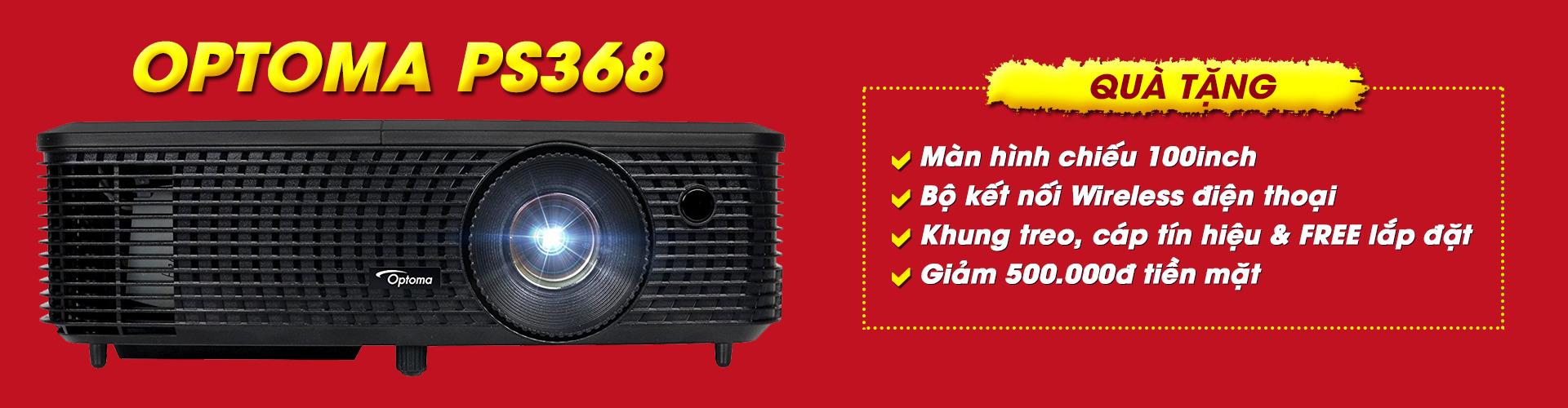 Khuyến mãi máy chiếu Optoma PS368 giải bóng đá Asiad 2018