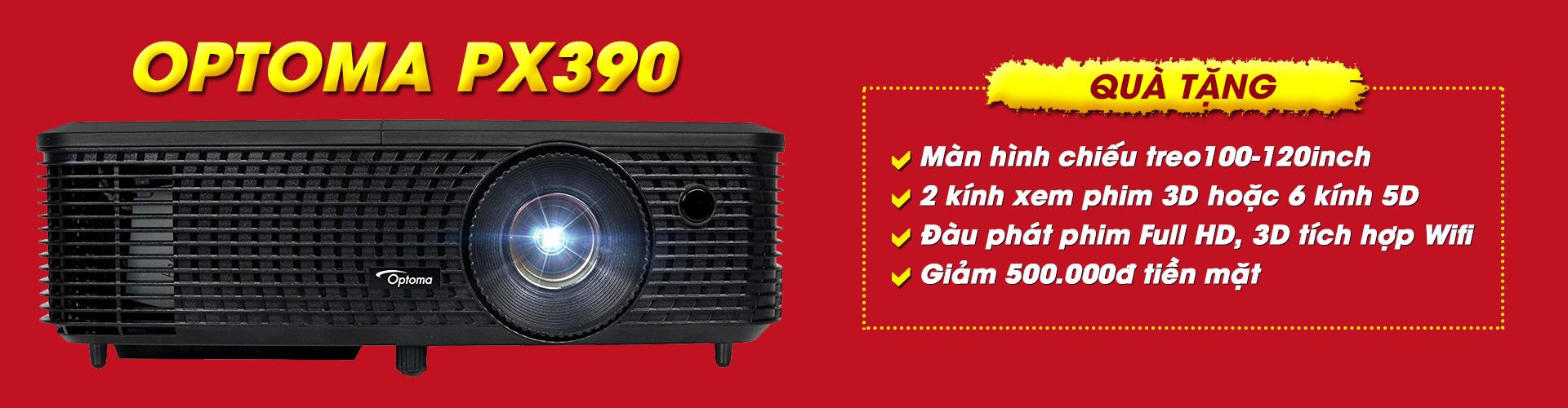 Khuyến mãi máy chiếu Optoma PX390 giải bóng đá Asiad 2018