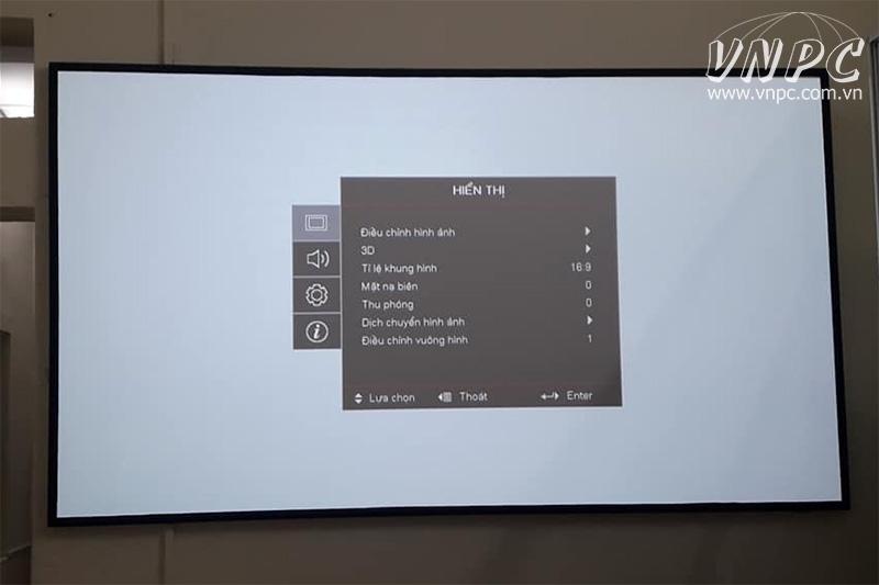 Lắp đặt màn chiếu khung Cine-Max cho phòng phim HD 3D