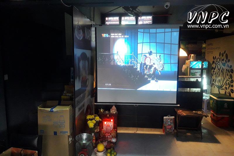 Lắp máy chiếu Viewsonic PJD515HD cho Napoli Coffee Bình Tân