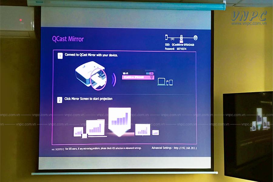 VNPC lắp đặt 3 bộ máy chiếu BenQ MH550 tại Bắc Ninh