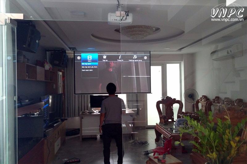 Lắp máy chiếu phim 4K giá rẻ cho phòng phim gia đình