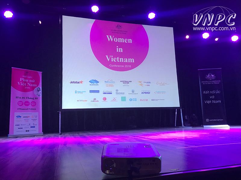 Cho thuê máy chiếu tổ chức Hội nghị Phụ nữ Việt Nam 2018