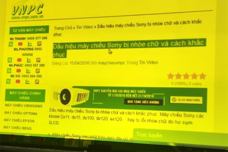 Sửa LCD Máy chiếu Sony, Panasonic, 3M, Hitachi giá tốt