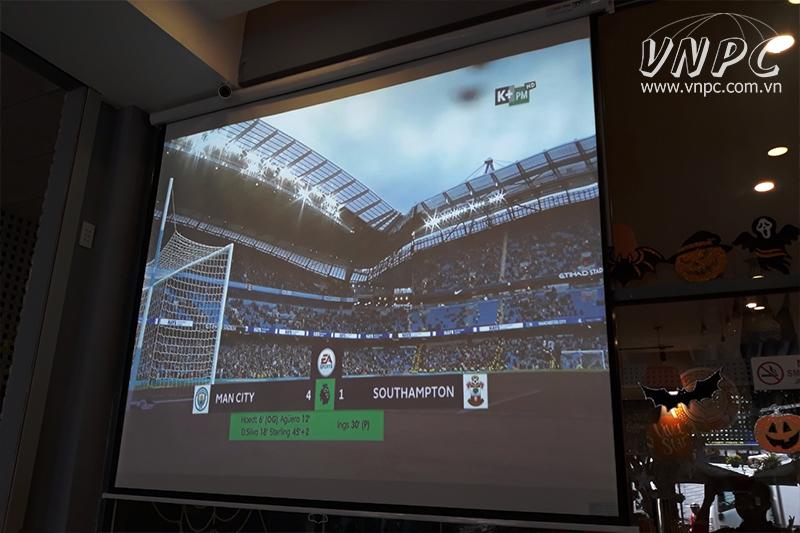 Lắp máy chiếu xem bóng đá Optoma PS368 tại quận Bình Tân