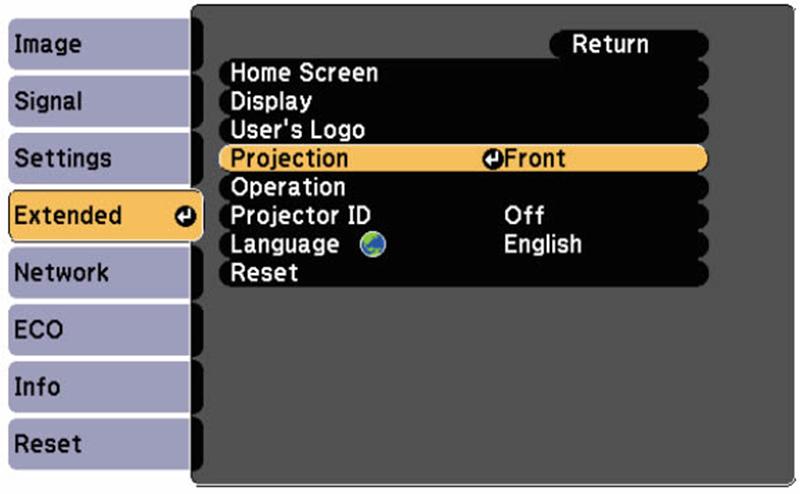 Cách lật ngược khung hình máy chiếu Epson