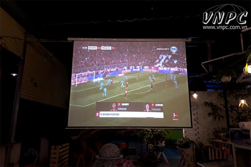 Lắp máy chiếu Optoma PS368 cho quán cafe K+ tại quận 12