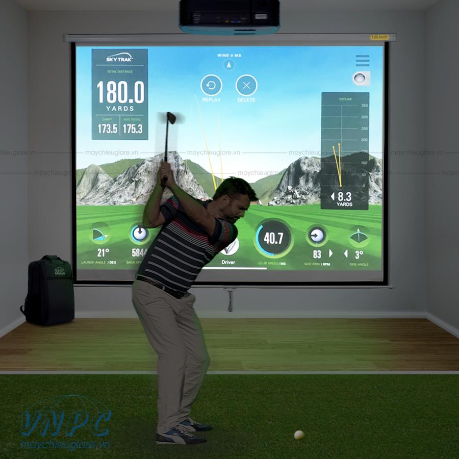 Optoma PS368 máy chiếu chơi Golf 3D tại nhà