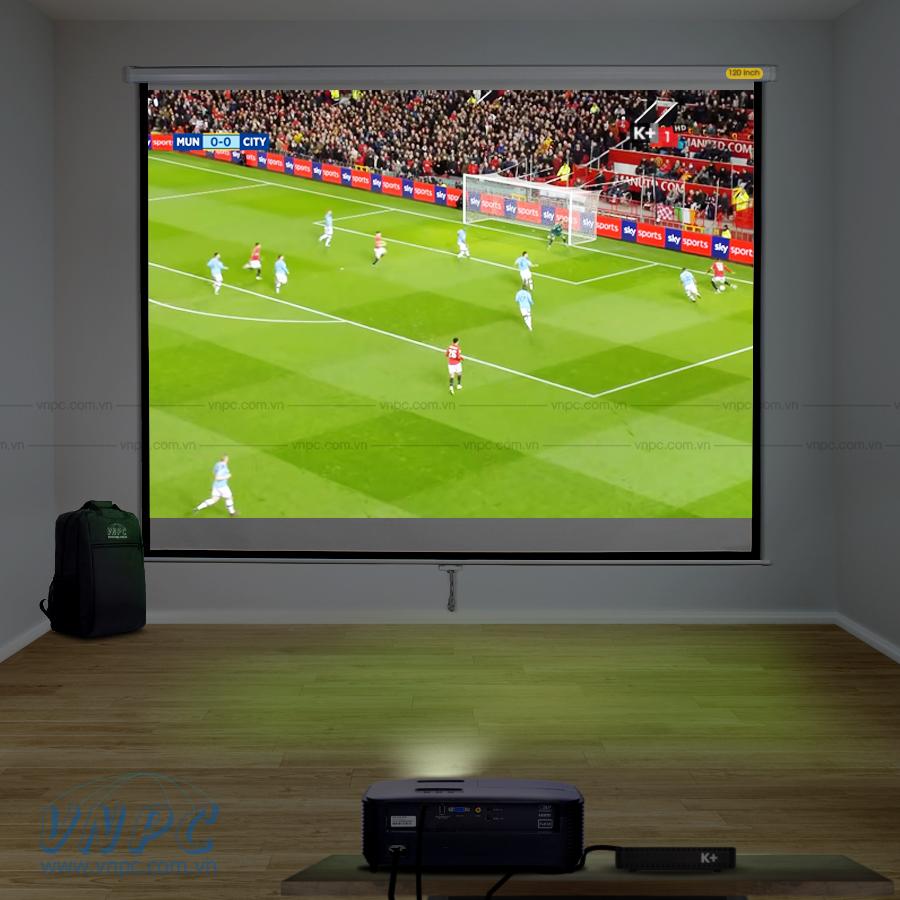 Optoma PS368 máy chiếu xem bóng đá dùng kinh doanh quán cafe, nhà hàng