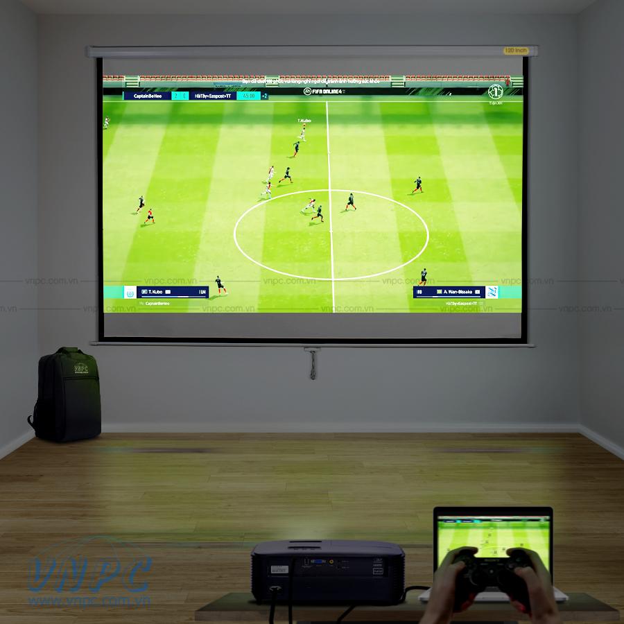 Optoma PS368 máy chiếu chơi game giá rẻ màn hình lớn
