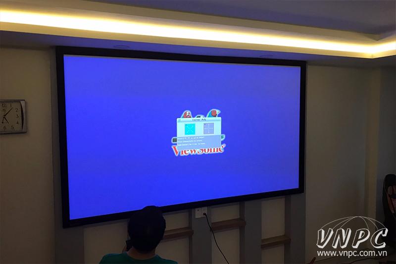 """Lắp máy chiếu Viewsonic Pro7827HD & màn chiếu khung 120"""""""