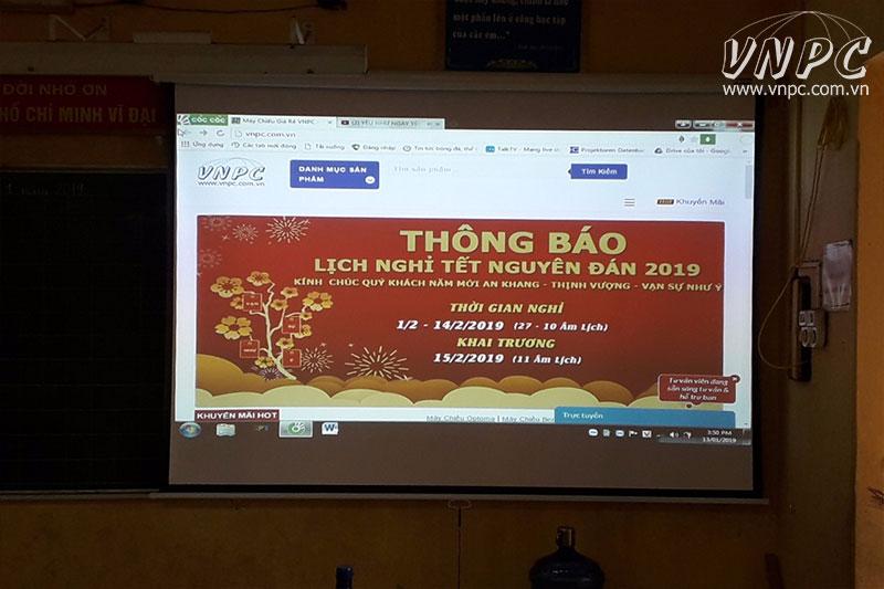 Lắp máy chiếu Optoma PX390 dạy học tại H.Đông Anh, Hà Nội