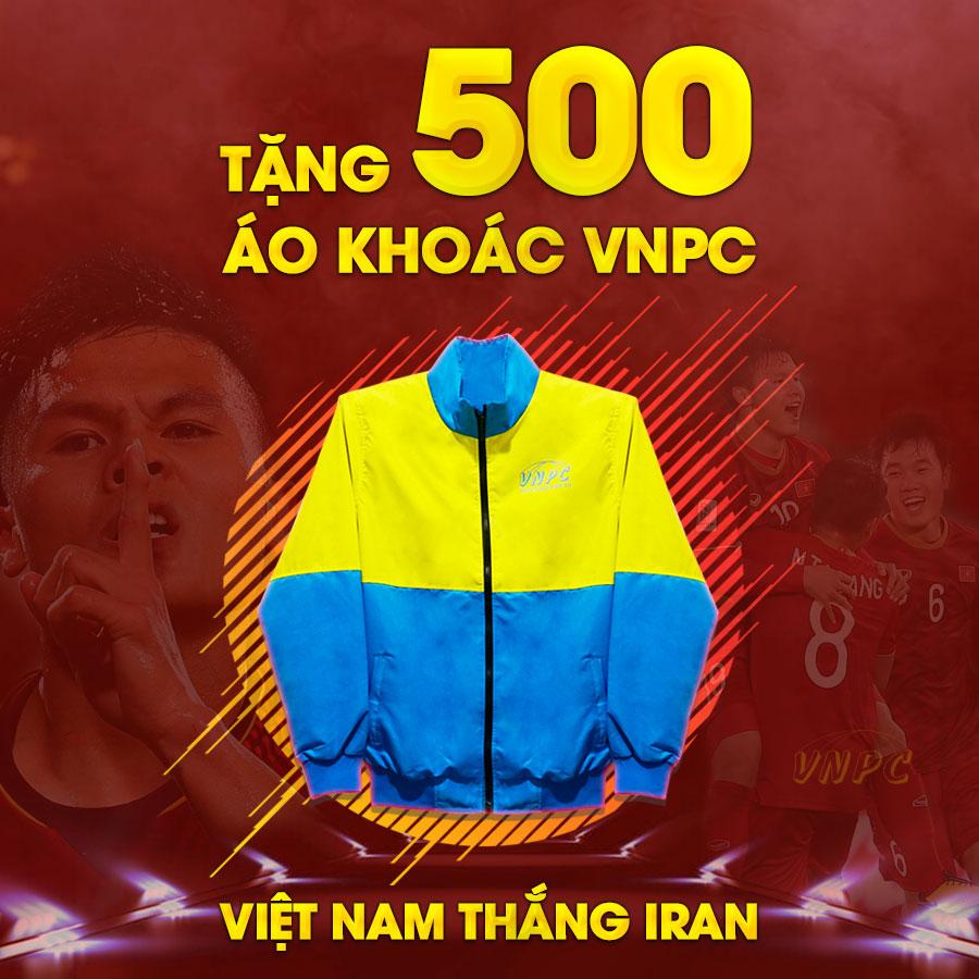 Tặng 500 Áo Khoác Khi VIỆT NAM THẮNG IRAN ở Asian Cup