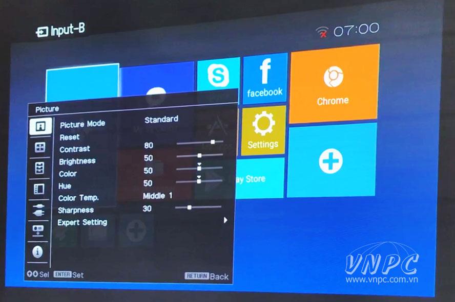 Hình chiếu máy chiếu Sony giá rẻ cho văn phòng