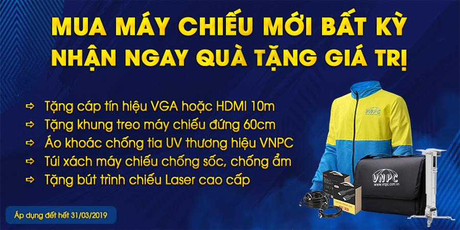 Khuyến mãi máy chiếu tháng 3 2019 tại VNPC