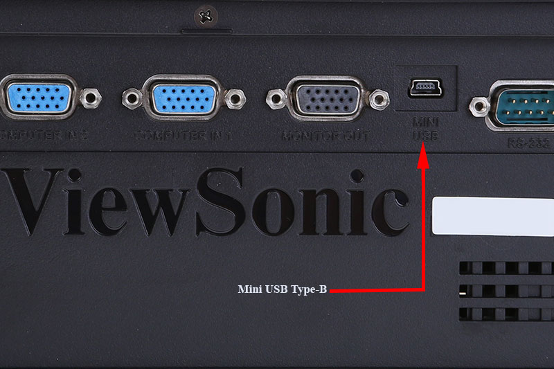 Cổng Mini USB Type B trên máy chiếu - Cổng USB Mini máy chiếu