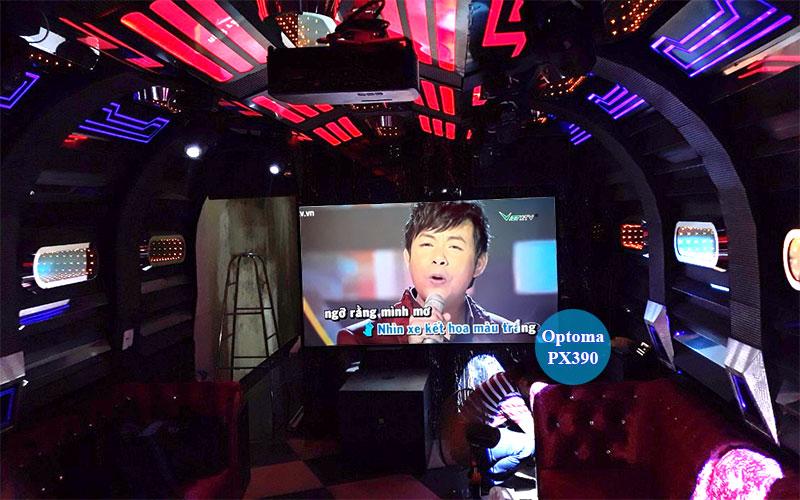 Lắp đặt máy chiếu Optoma PX390 quán Karaoke