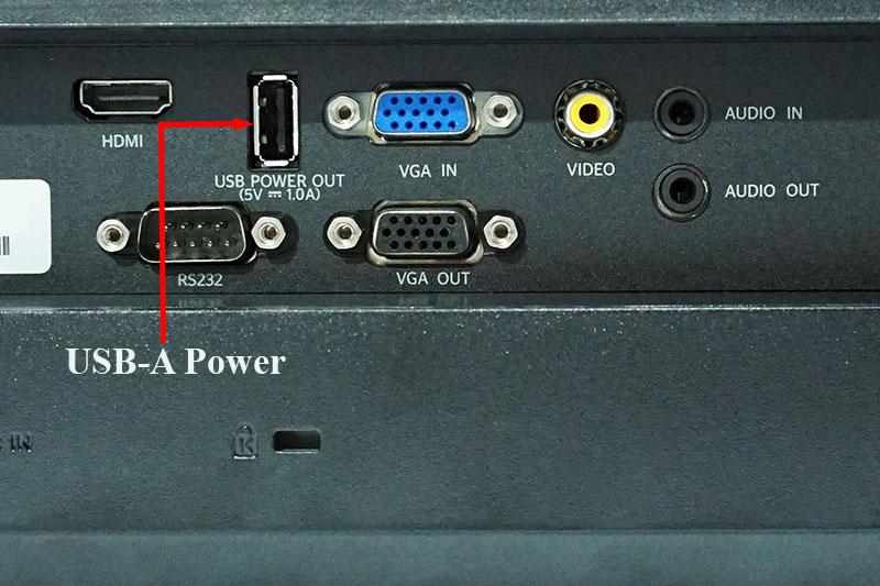 Cổng USB-A Power máy chiếu - Cổng USB Power máy chiếu