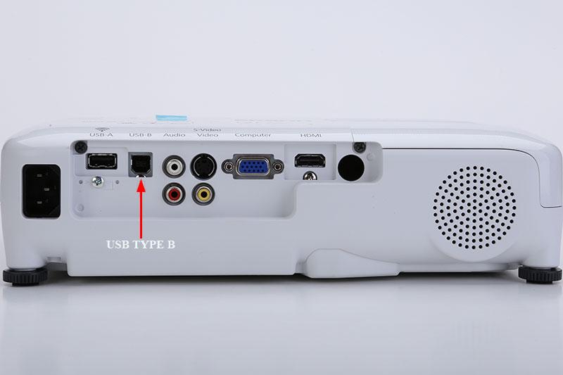 Cổng USB Type B trên máy chiếu  - Cổng USB chuẩn B máy chiếu