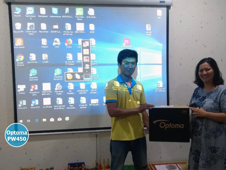 Lắp đặt máy chiếu Optoma PW450 Trường Mầm Non Quận Tân Bình