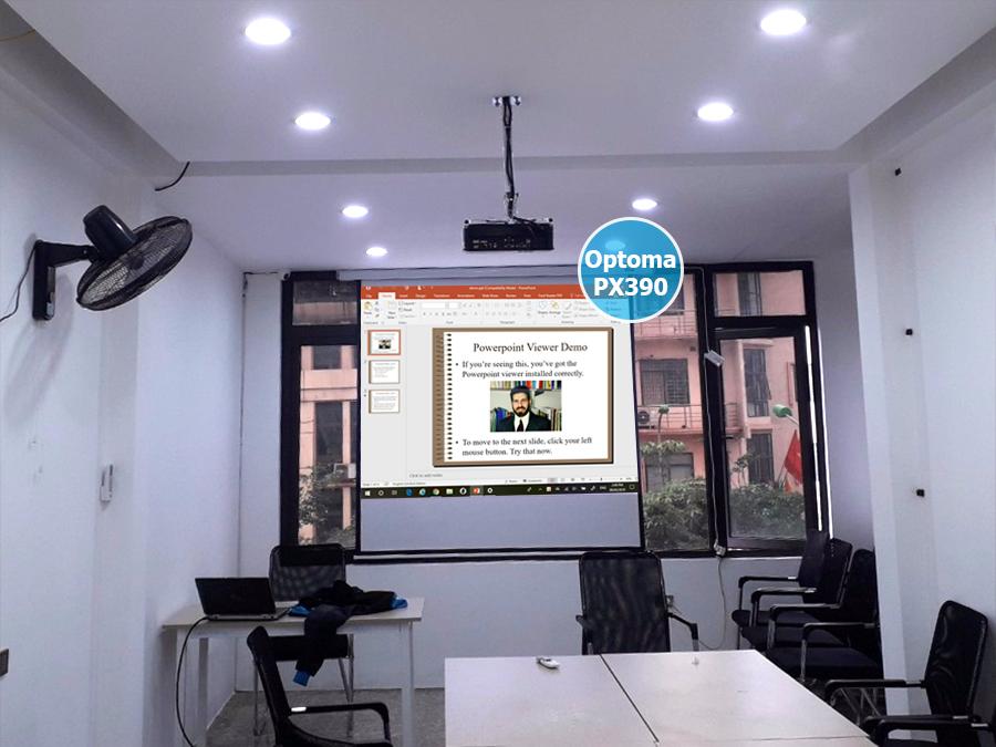 Lắp máy chiếu Optoma PX390 cho phòng họp Quận Hai Bà Trưng