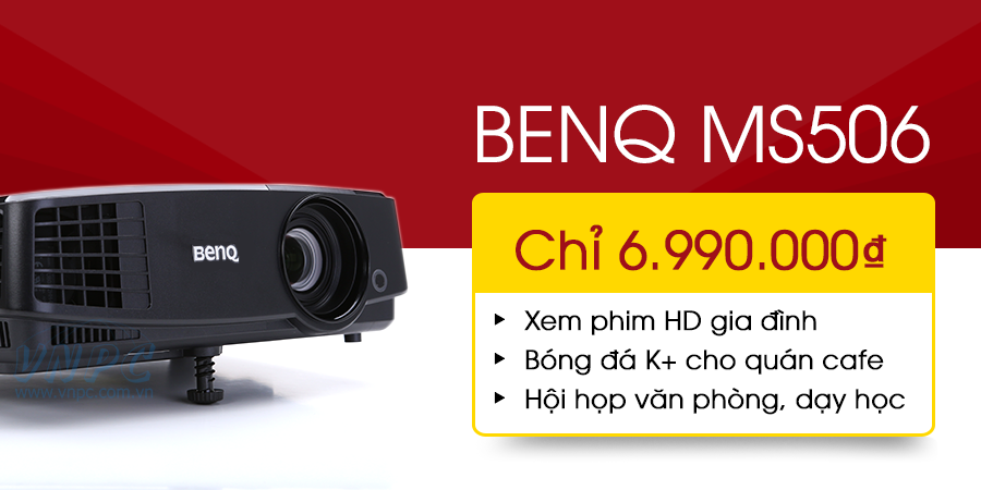 Khuyến mại giảm giá máy chiếu BenQ MS506 giá siêu rẻ tại VNPC