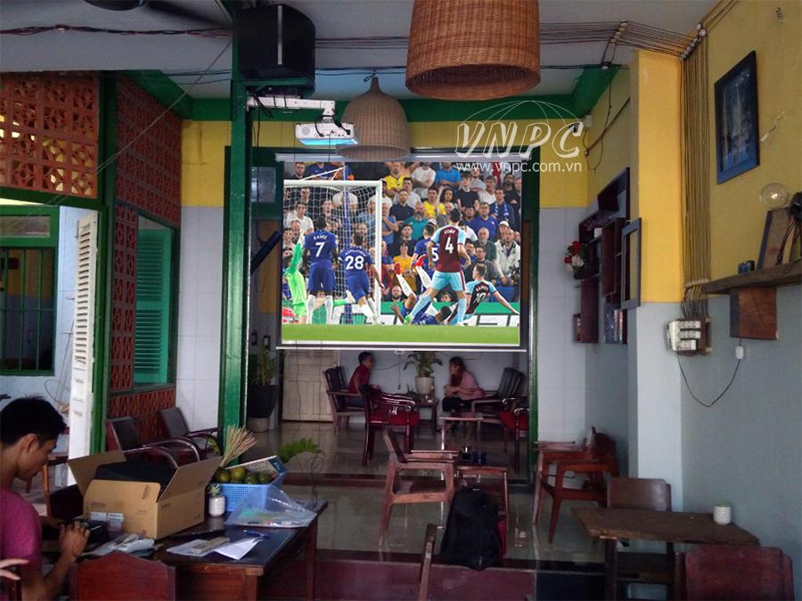 Lắp đặt máy chiếu Epson EB-X05 quán cafe quận Bình Tân