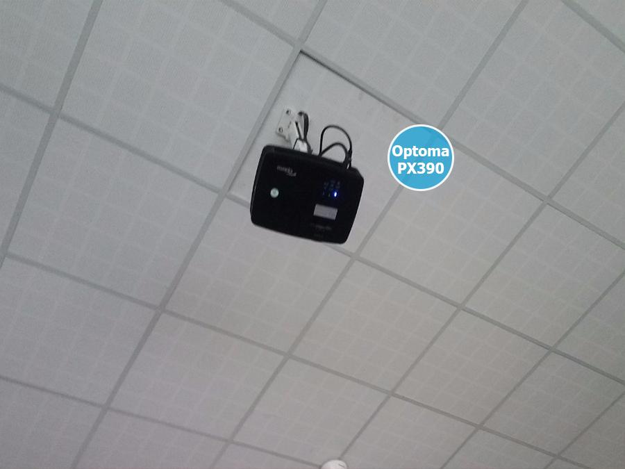 Lắp đặt máy chiếu Optoma PX390 quán cafe bóng đá tại Biên Hòa