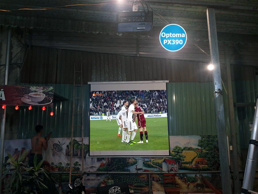 Lắp đặt máy chiếu Optoma PX390 quán cafe Huyện Bình Chánh