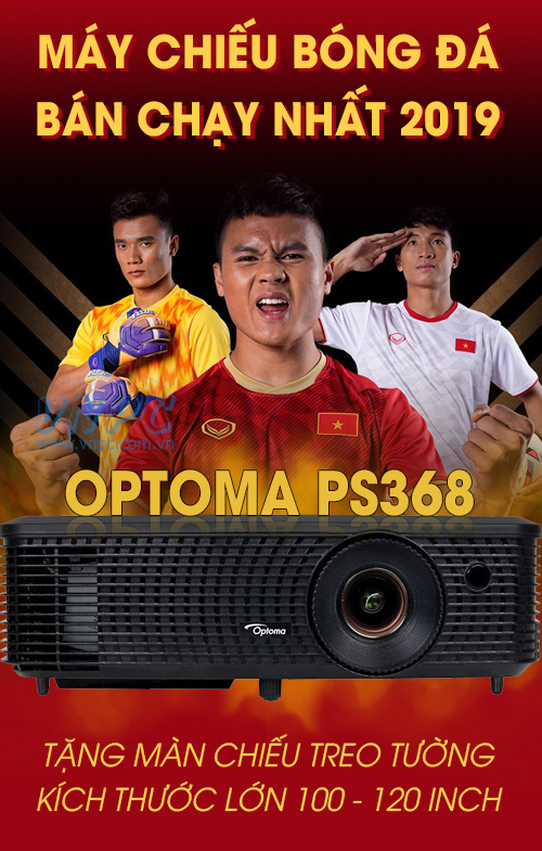 Máy chiếu xem bóng đá bán chạy nhất hiện nay Optoma PS368